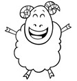 ram farm animal character color book vector image vector image