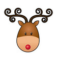 reindeer face manger animal cartoon image vector image vector image