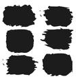 set grunge shapes frames eps 10 vector image
