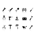 set of black Construction hand tool icon vector image vector image