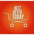 Shopping cart on a bright background vector image vector image
