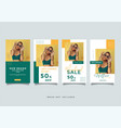 social media stories template pack vector image vector image