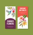 summer flower flyer template design vector image vector image