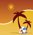 summer stuff color vector image vector image
