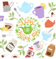 tea party collection vector image vector image