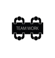team work with people icon vector image