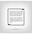 Text quote bubble square white background with vector image vector image