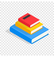 three books on each other isometric icon vector image vector image