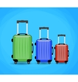 three Travel bag isolated on background vector image vector image