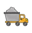 tipper truck construction with cement material vector image vector image