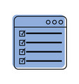 web page check mark report list flat design vector image