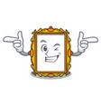 wink picture frame character cartoon vector image vector image