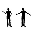 wondering men silhouettes vector image vector image