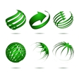 Abstract sphere icons collection vector image