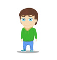 Cartoon Boy Character isolated on white background vector image