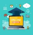 education online concept vector image