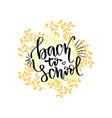 back to school banner handwritten lettering vector image