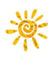 abstract summer sun logo design vector image