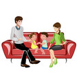 parents and their children on sofa vector image