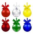 Set of balls Christmas decorations The symbols vector image