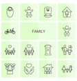 14 family icons vector image vector image