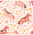abstract carnival horses seamless pattern magical vector image
