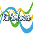 Abstract Rio de Janeiro logo with national flag co vector image vector image
