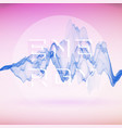 abstract signal wave vector image vector image