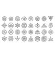 alchemy icons set outline style vector image vector image