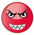 angry emoticon emoji red smiley vector image
