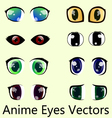 Anime eyes vector image