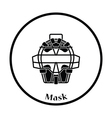 Baseball face protector icon vector image