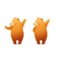 bear showing greeting cartoon clipart for kids vector image vector image