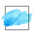 beautiful blue watercolor vector image