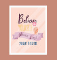 believe in yourself never lose faith quotes vector image vector image
