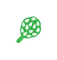 birch broom icon on white background vector image vector image