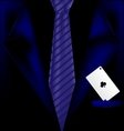 blue suit and ace vector image vector image