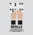 Braille Language Reading By The Blind vector image vector image