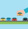 buying new car conceptual vector image