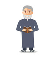 Cartoon Character Old man like a priest vector image vector image