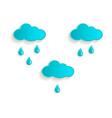 cartoon rain cloud icon symbol set isolated vector image
