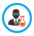 Chemist Rounded Icon vector image vector image