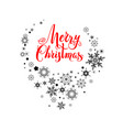 christmas holidays lettering vector image vector image