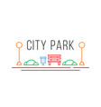city park icon in linear style vector image