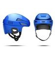 Classic blue Hockey Helmet vector image
