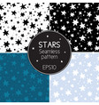 collection of seamless textures starry sky vector image vector image