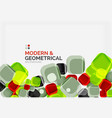 color glossy squares with round angles vector image vector image