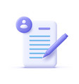copywriting writing icon document and pencil vector image vector image