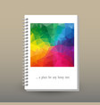 cover of diary full color rainbow polygonal vector image vector image