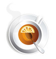 cup of tea with lemon for design image for vector image